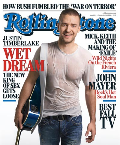 Justin Gets Wet For Rolling Stone