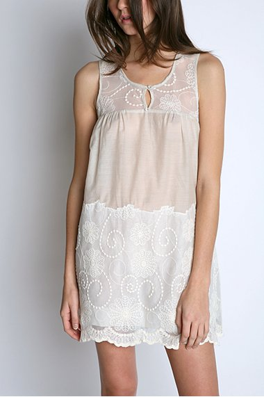 Kimchi Blue Embroidered Slip Dress $48 @ Urban Outfitters