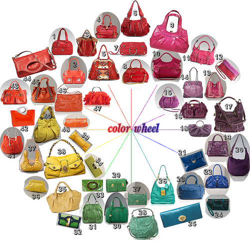 Bright Bags for Summer on The Color Wheel by Platinum Blonde Life