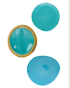 Marni Blue Resin Brooches