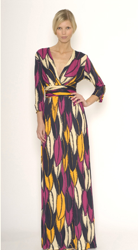Matthew Williamson Leaf Print Maxi Dress
