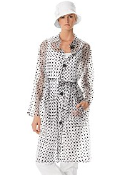 See Through PVC Polka Dot Echo Rain Coat