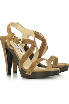 Jimmy Choo Wooden Platform Sandals $780 @ Net-a-Porter