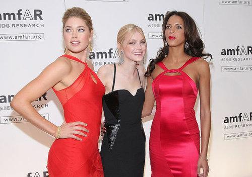 Jessica Stam, Lily Donaldson Help AmfAR Launch the Fashion Week Storm
