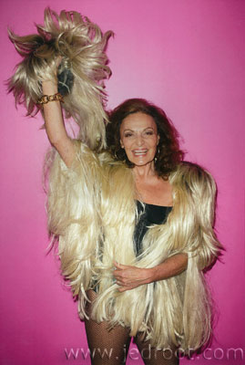 Diane von Furstenberg Tries Other Designers On For Size in Purple