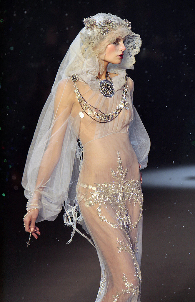 "John Galliano Fall 2009 Redeems Itself from ""Toxic"" Snow with Gauzy Gowns"