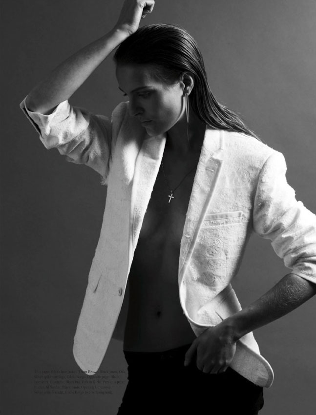 Keegan Singh Works Menswear-Clad Vanessa Traina for Dossier