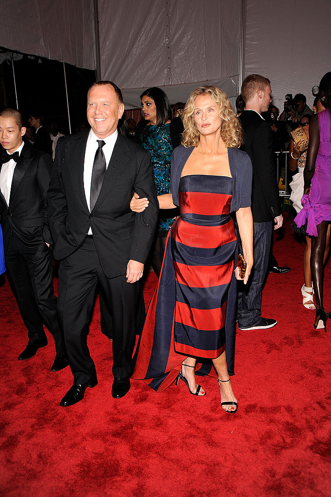 Michael Kors with Lauren Hutton in his design