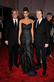 Mark Badgley, Tyra Banks in Badgley Mischka, and James Mischka