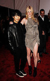 Alexander Wang and Lara Stone in his design