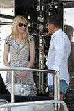 May 22: Claudia Schiffer and Stefano Gabbana on his yacht, Regina D'Italia
