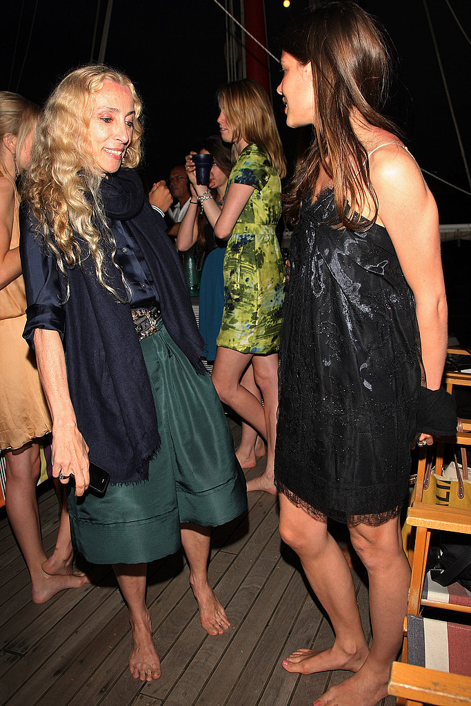June 4: Franca Sozzani and Charlotte Casiraghi at Missoni Dinner Party