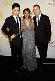 Proenza Schouler's Lazaro Hernandez and Jack McCollough with Kerry Washington