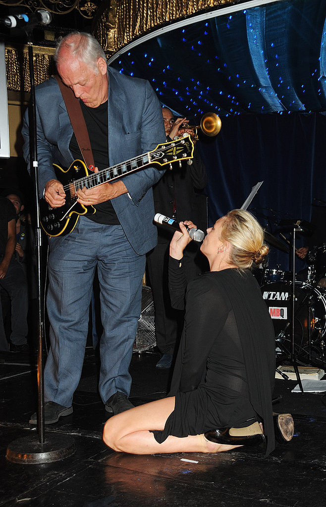 Kate Moss Writhes Around Onstage, Sings for Charity
