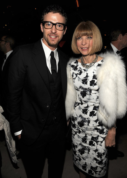 Justin Timberlake and Anna Wintour in Carolina Herrera