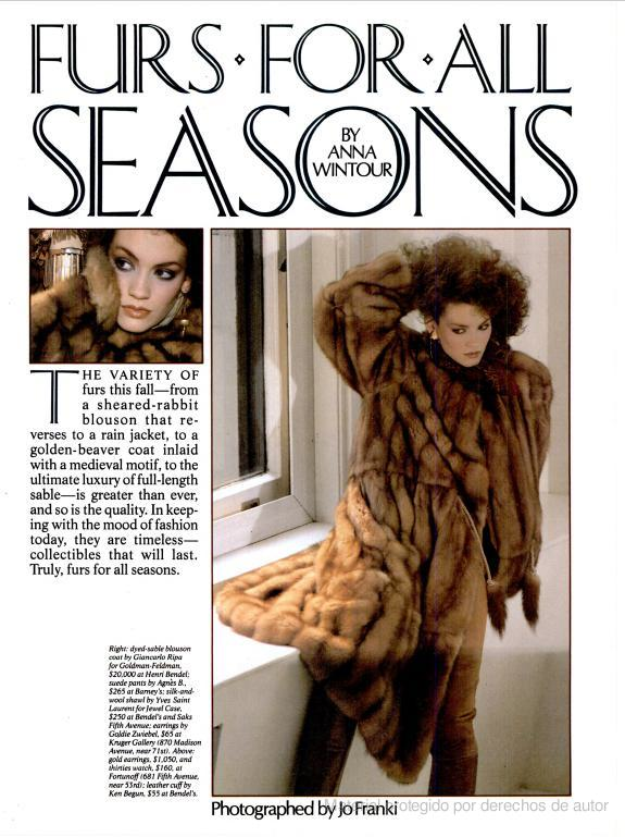 Sept. 1981: Furs For All Seasons