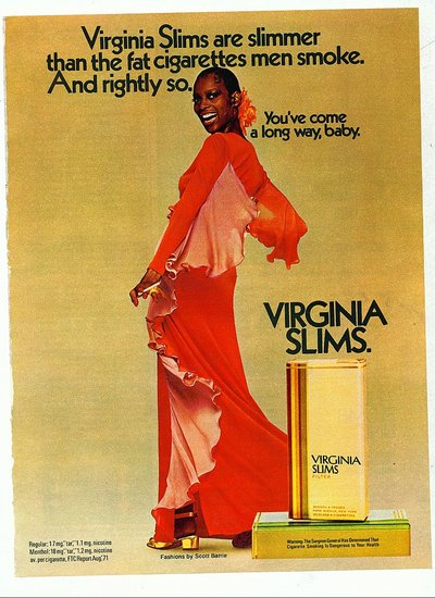1972: Virginia Slims advertisement