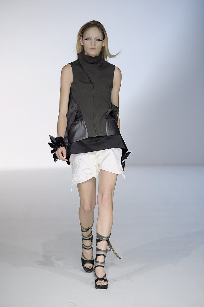 Rick Owens Sticks to Black, White, Gray, and Nude, But Brings Back Models of Color for Spring 2010