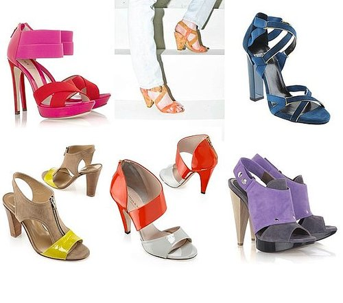 Shopping: Two-Tone Sandals In Bright Colors