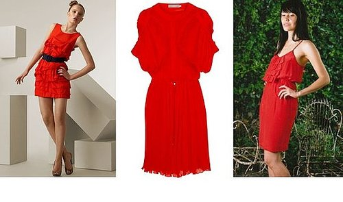 Shopping: Strong Red Dresses With Soft Ruffles