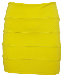 A bright bodycon mini...