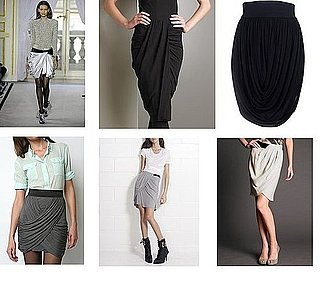 Shopping: Draped Skirts Do All The Work