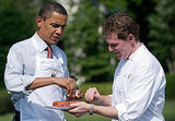 Bobby Flay and President Obama Man the Grill