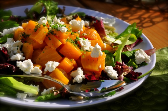 Golden Beets and Goat Cheese