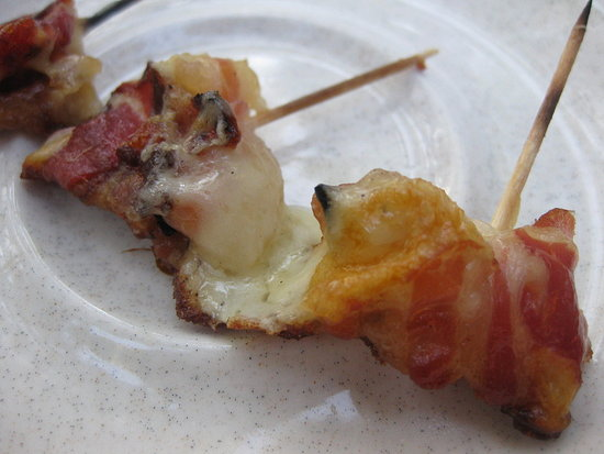 Pancetta Smoked Mozzarella Skewers
