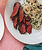 Fast & Easy Gourmet Recipe For Seared Skirt Steak With Mushroom Salad