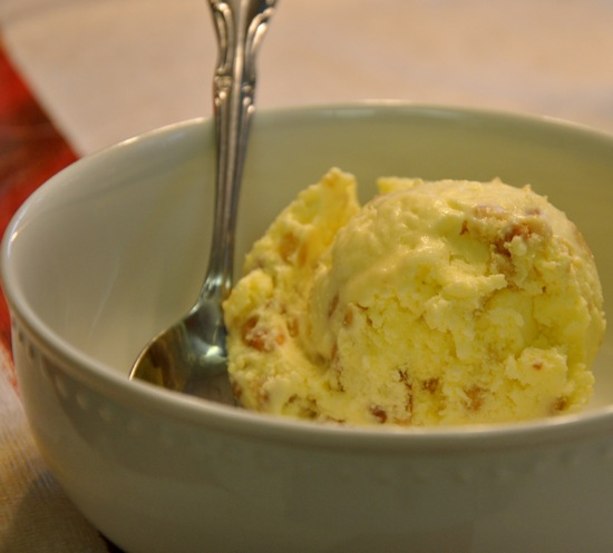 Olive Oil Roasted Pine Nut Ice Cream