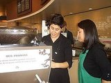 Photos of YumSugar Playing Guest Barista at Starbucks