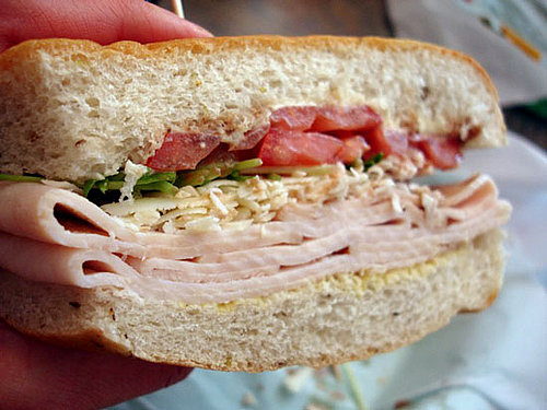 Recipe For Smoked Turkey and Parmesan Sandwich on Focaccia