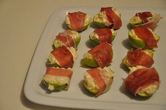 Goat Cheese Stuffed Figs Wrapped Prosciutto