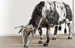 Artist Makes Farm Animal Art From Ordinary Objects