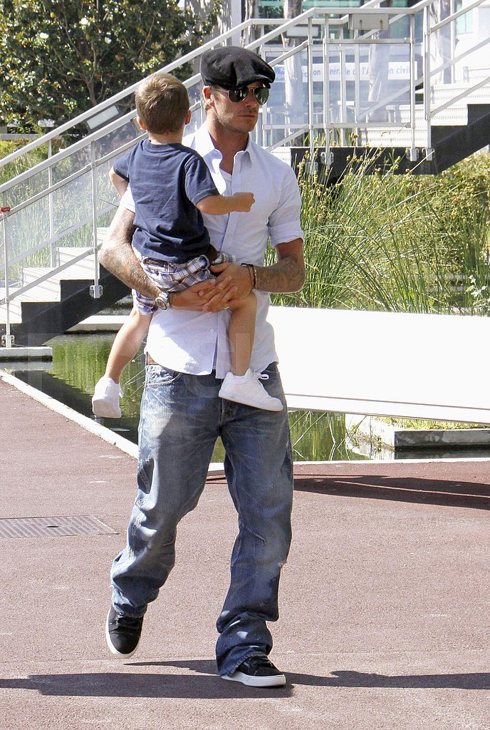 Beckhams in French Riviera