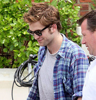 Photos of Robert Pattinson Leaving the Remember Me Set