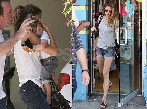 Photos of Pregnant Gisele Bundchen in LA, With Stepson John Moynahan
