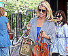 Photo Slide of Jessica Simpson Leaving Lunch in NYC With Mom Tina and Dog Daisy