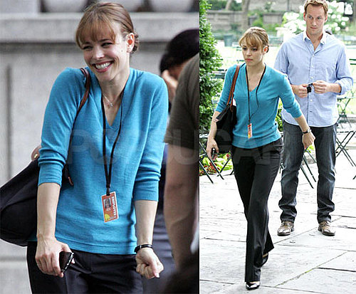 Photos of Rachel McAdams and Patrick Wilson Filming Morning Glory in NYC