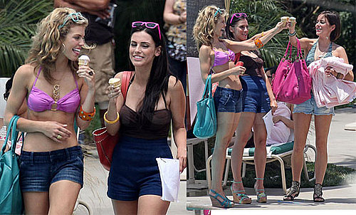 Bikini Photos of AnnaLynne McCord, Jessica Stroup, and Jessica Lowndes on the Set of 90210 in LA