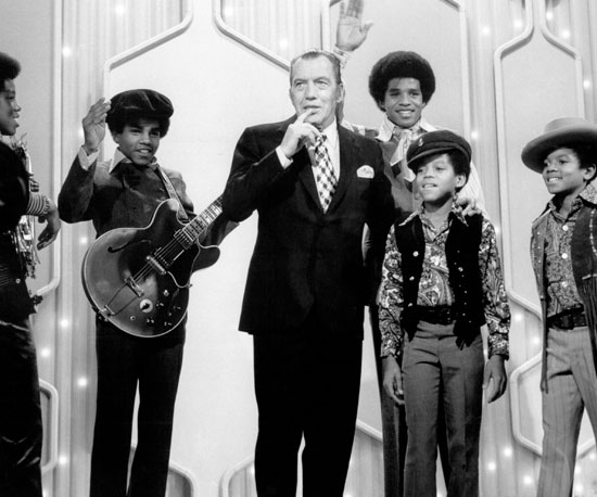 Michael and the rest of The Jackson 5 appeared together on The Ed Sullivan Show in 1969.