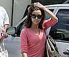 Slide Photo of Eva Longoria at Cafe Med in LA Wearing a Pink Shirt
