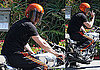 Photos of Brad Pitt on His Motorcycle in LA