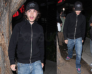 Emile Hirsch Has a Little Something to Celebrate