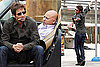 Photos of David Duchovny Filming Californication With Evan Handler