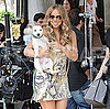 Slide Photo of Mariah Carey On the Set of Her Music Video With Dog Jack