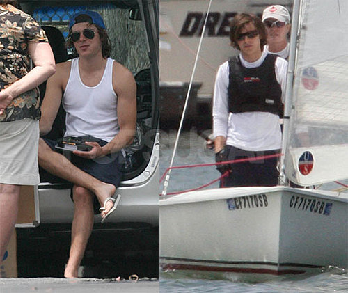 Photos of Zac Efron Taking Sailing Lessons in Marina Del Ray, California