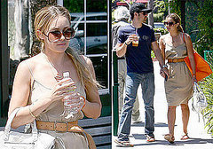 Photos of Lauren Conrad Covered Up In a Bikini with Shirtless Kyle Howard at Pool in LA