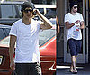 Photos of Zac Efron Getting Alcohol at a Convenience Store With a Friend